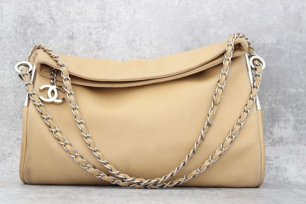 Chanel Beige Lambskin Ultimate Soft Shoulder Bag