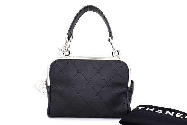 Chanel Black Lambskin Ultimate Soft Frame Bag