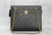 Chanel Vintage Black Lambskin Chain Strap Shoulder Bag