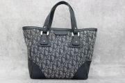 Dior Blue Monogram Canvas & Leather Small Tote