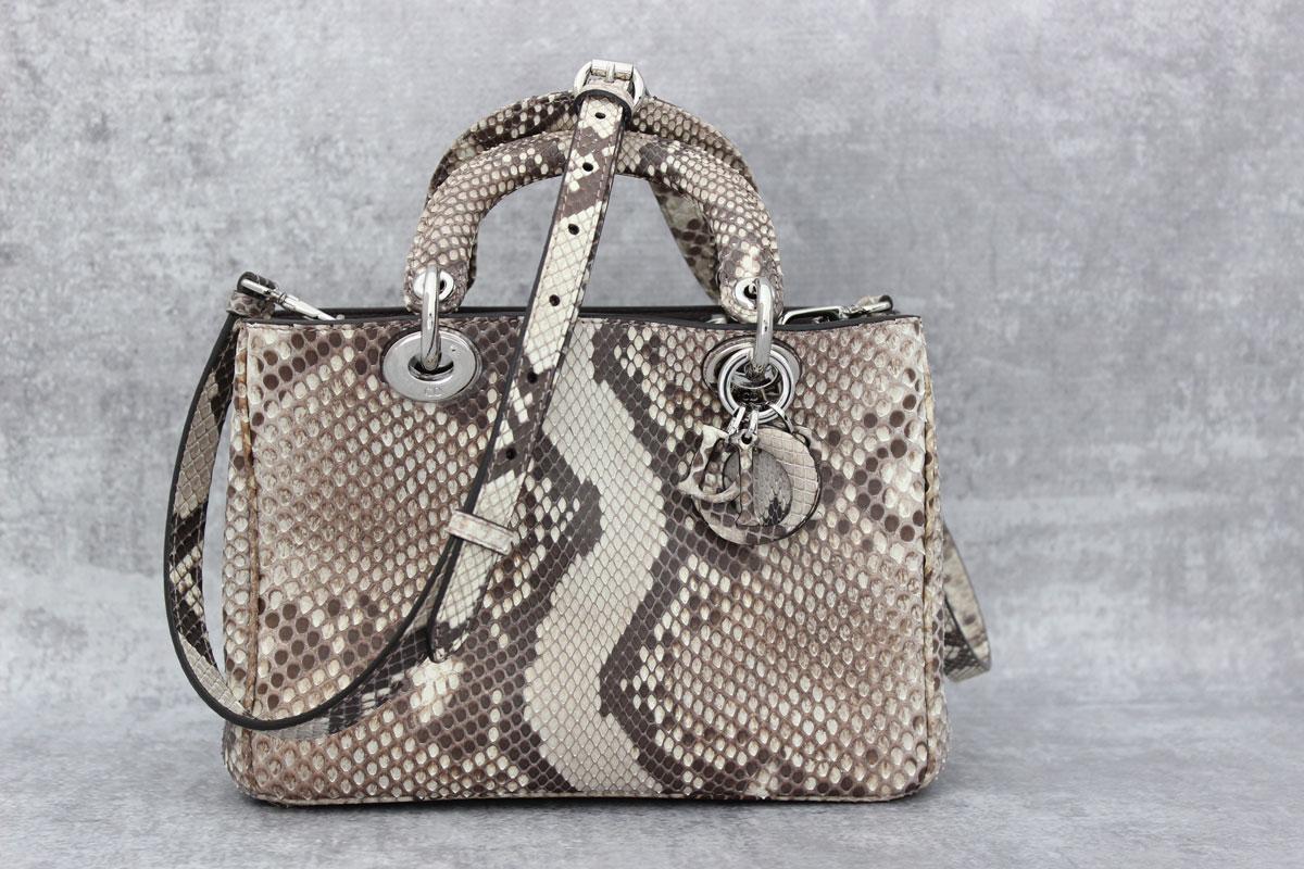 Dior Diorissimo Small Python Bag Tap To Expand