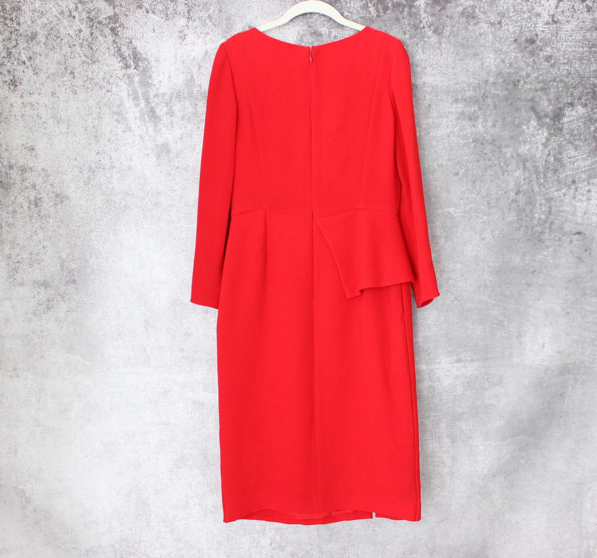 Asymmetrical Peplum Dress
