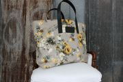Dolce & Gabbana Large Canvas Floral Tote Bag