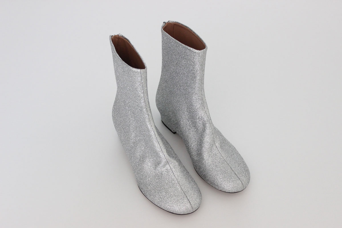dac37de6351ee6 Dries Van Noten Silver Glitter Booties at Jill s Consignment