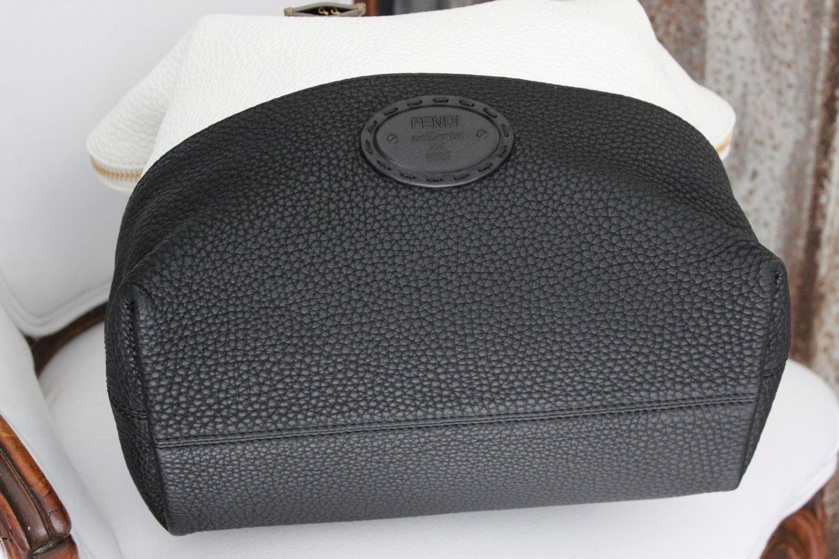 d3fee92befa4 Fendi Silvana 2Bag Leather Tote Black   White. Tap to expand
