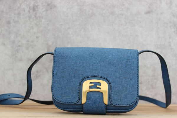 Fendi Chameleon Mini Messenger Blue