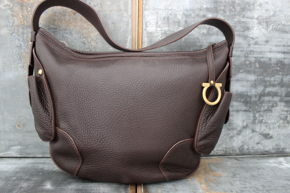d348bdadb227 Ferragamo Brown Leather Hobo