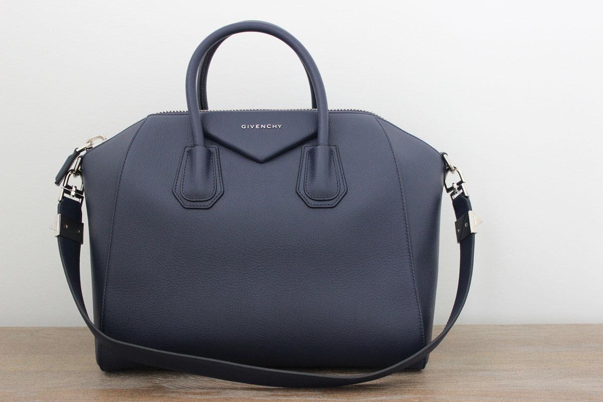 givenchy antigona medium sugar goatskin satchel navy blue. Black Bedroom Furniture Sets. Home Design Ideas