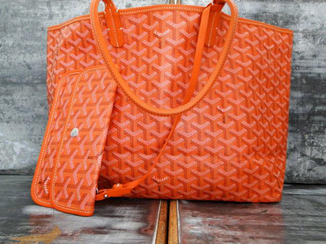 64fe328d33 Goyard Orange PVC Saint Louis PM Tote