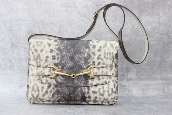Gucci Bright Bit Animalier Printed Leather Shoulder Bag