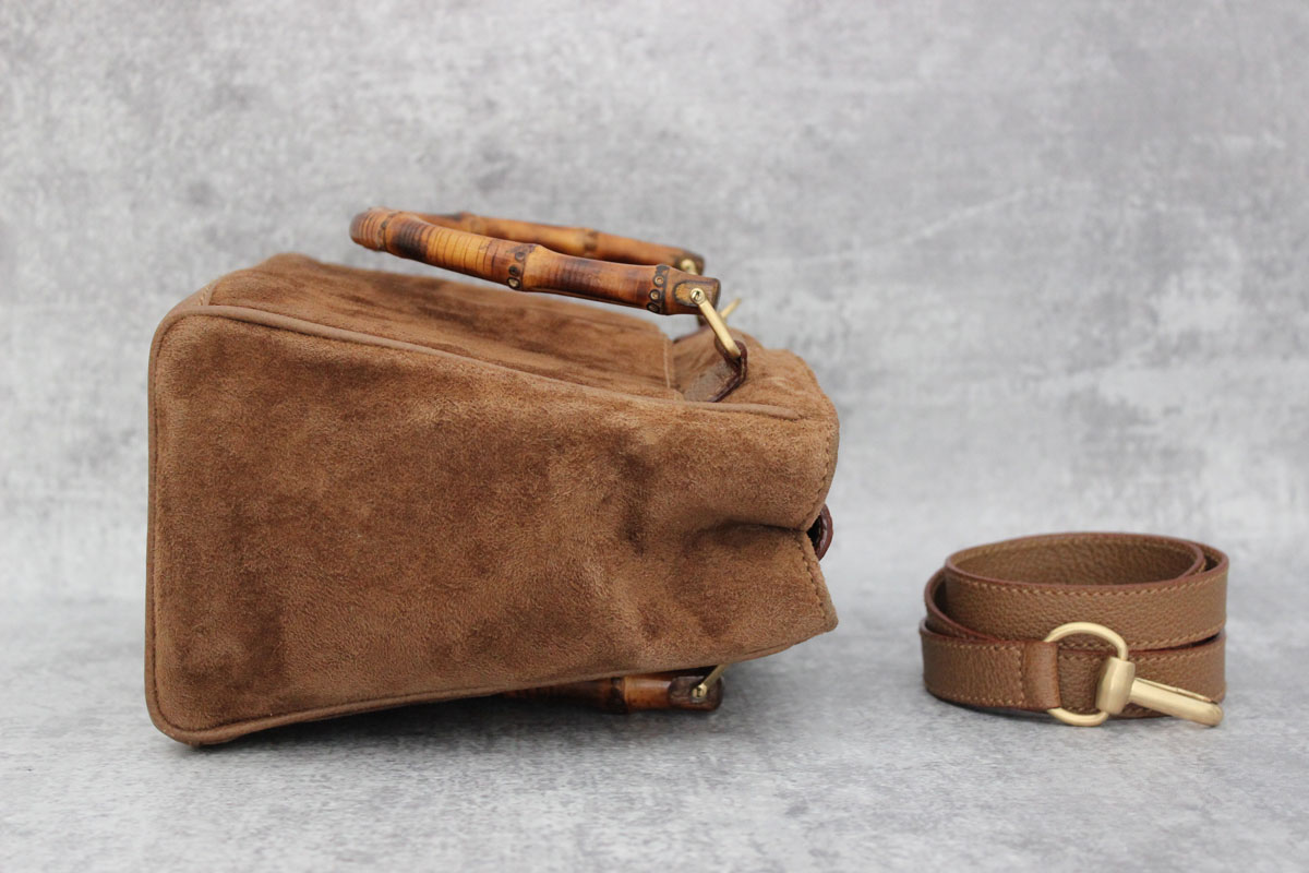 Gucci Tan Suede Amp Leather Bamboo Handle Bag At Jill S Consignment