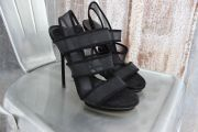 Gucci Black Mesh BETTE Strappy Platform Sandal 6.5