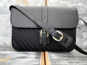 Gucci Vintage Black GG Canvas & Leather Shoulder Crossbody Bag NEVER CARRIED