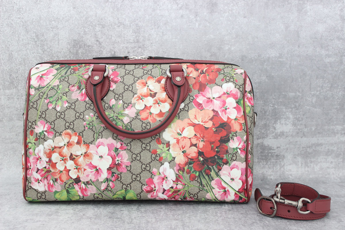 875a2ccf1 Gucci Blooms GG Supreme Large Boston Bag at Jill's Consignment