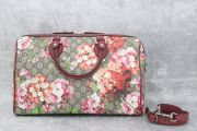 Gucci Blooms GG Supreme Large Boston Bag