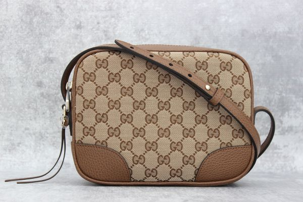 Gucci Bree Original GG Canvas Mini Messenger Bag