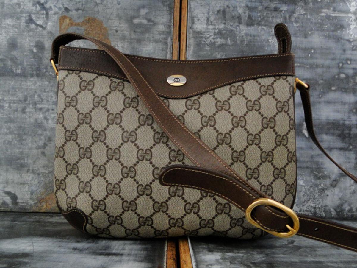d8357780ce62 Gucci Vintage Brown GG Monogram Shoulder Crossbody Bag