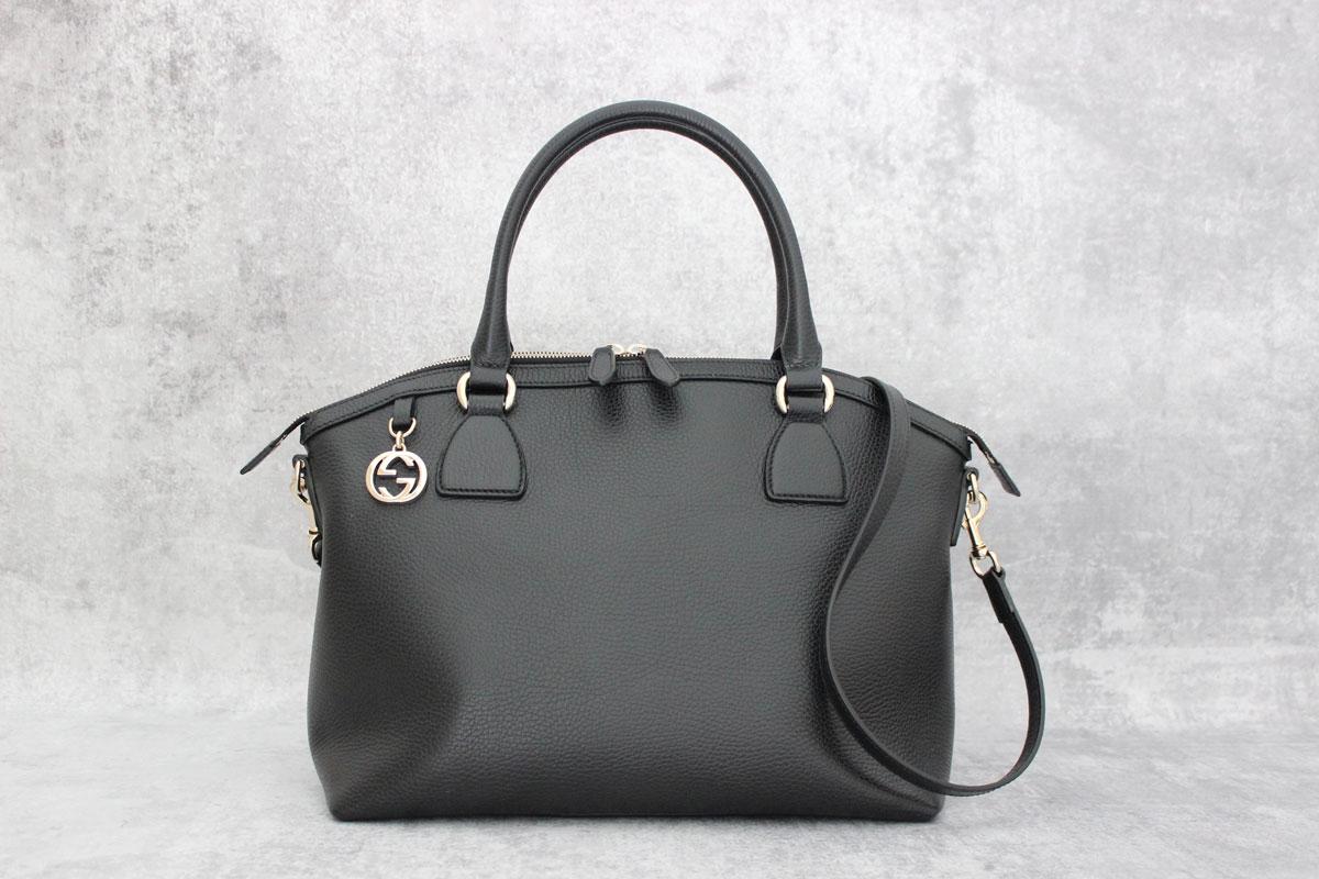 Gucci Black Leather Gg Charm Dome Bag At Jill S Consignment ff9d3e74f9322