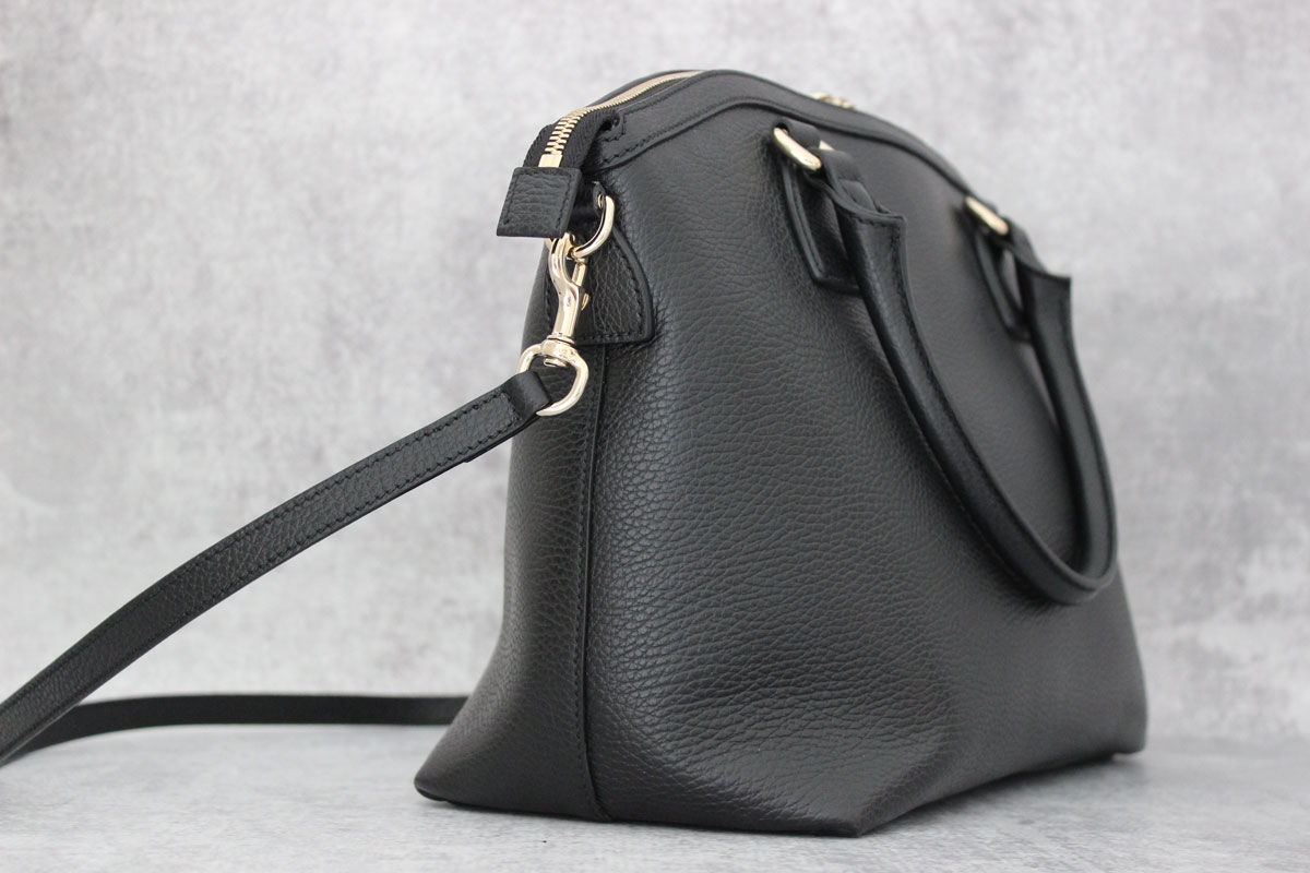 7e639823c4b5 Gucci Black Leather Gg Charm Dome Bag At Jill S Consignment