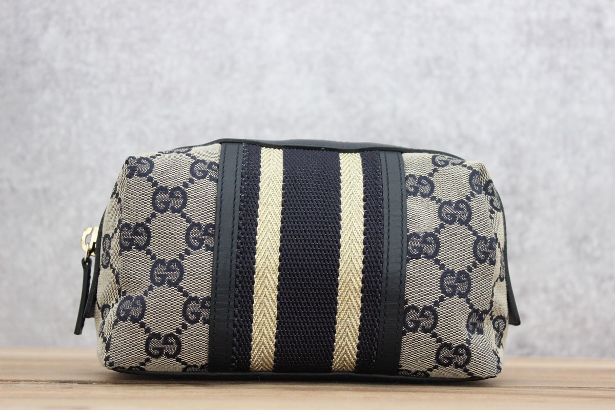 60f0b72111a Gucci Original GG Web Cosmetic Case. Tap to expand