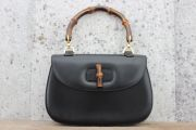 Gucci Bamboo Handle Bag Black Leather
