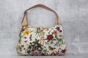 Gucci Floral Canvas & Leather Jackie Bag