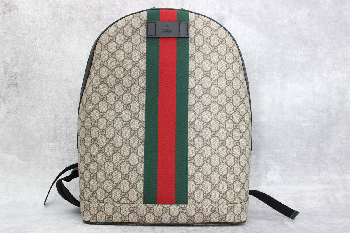 1c442860e63f Gucci GG Supreme Backpack with Web at Jill s Consignment