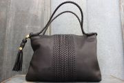 Gucci Black Lambskin Leather 'HANDMADE' Med Shoulder Bag