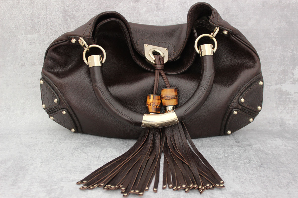 Gucci Brown Leather Medium Indy Bag Tap To Expand