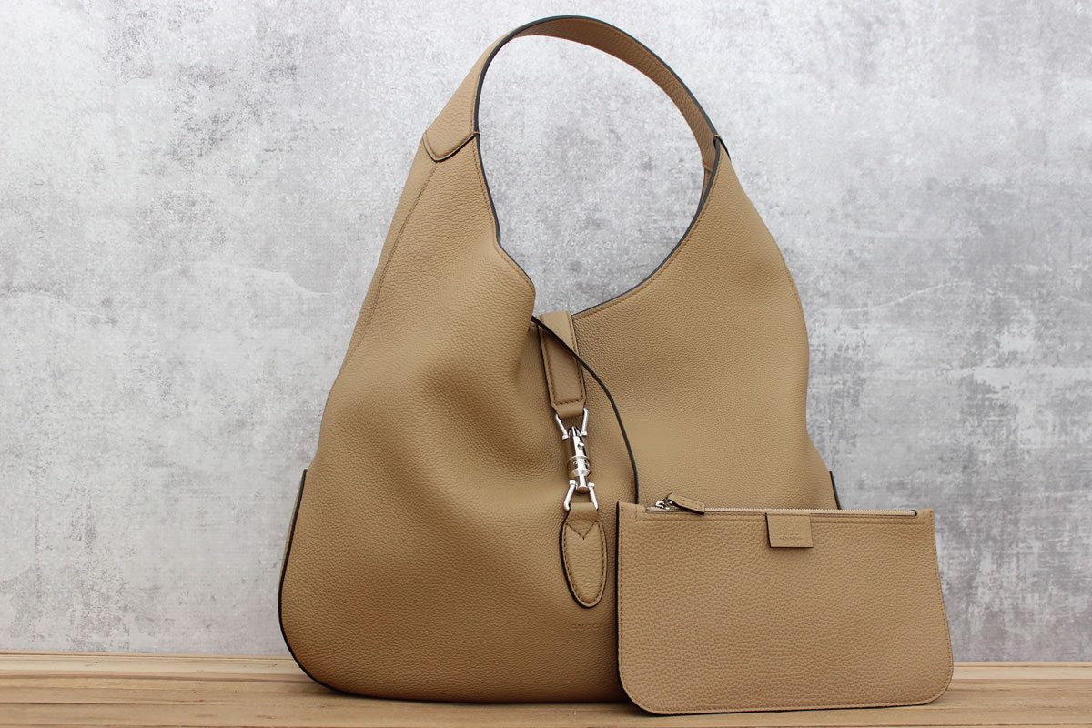 ff9a58d63b8443 Gucci Jackie Soft Leather Hobo. Tap to expand