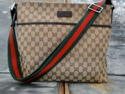 Gucci Beige Ebony Monogram Medium Messenger Bag