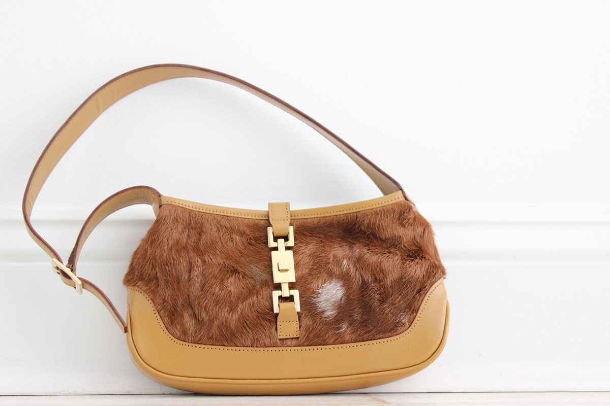 13ba962debb Gucci Pony Hair Mini JACKIE O Bag. Tap to expand
