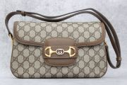 Gucci Brown GG Monogram Shoulder Bag with Flap