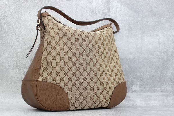 Gucci Brown GG Monogram Bree Hobo