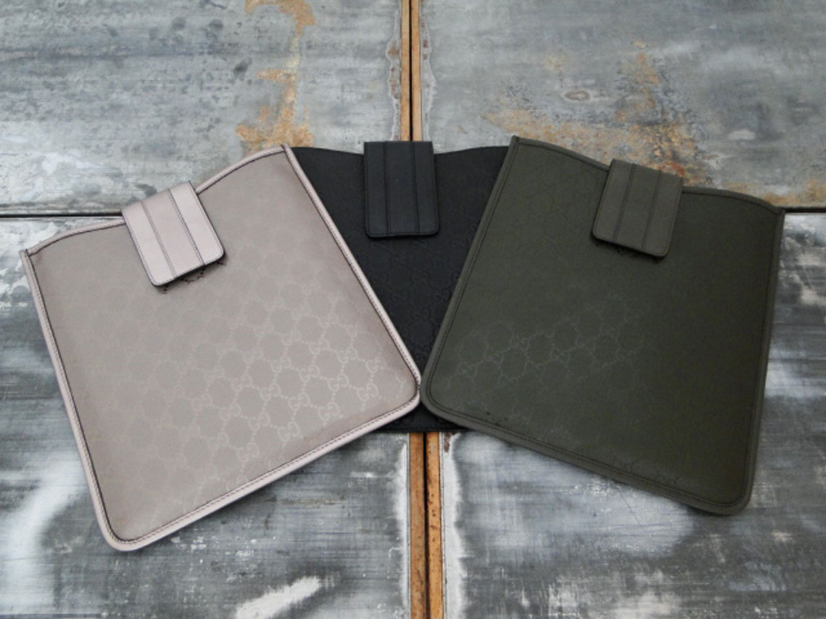 070478efe446 Gucci Lot of 3 GG Leather Ipad Tablet Cases