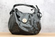 Gucci Black Patent Leather Medium Hysteria Hobo