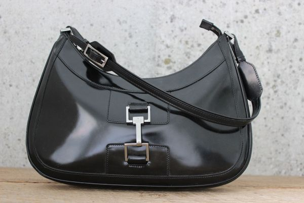 Gucci Vintage Shiny Calfskin Shoulder Bag