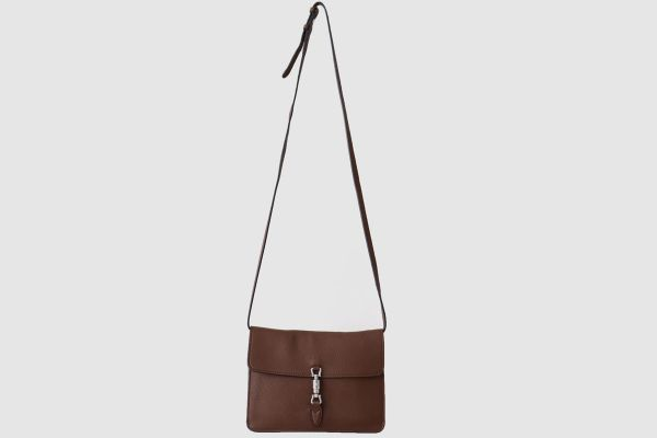 Gucci Jackie Soft Leather Convertible Crossbody Bag Brown