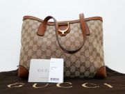 Gucci Soft Stirrup GG Canvas Tote Bag