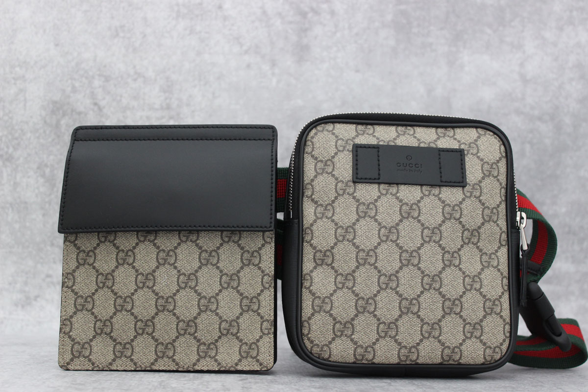 Gucci Two Pouch GG Supreme Belt Bag at Jill\u0027s Consignment