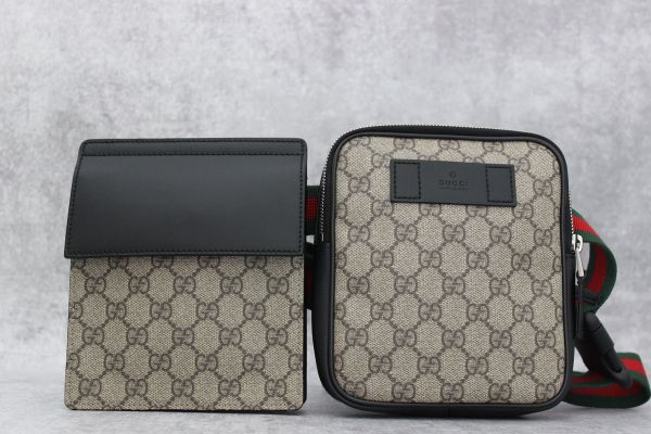 Gucci Two Pouch GG Supreme Belt Bag