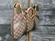Gucci monogram bamboo chain shoulder bag