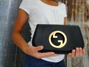 Gucci Vintage 1983 Navy BLONDIE Clutch