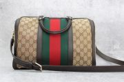 Gucci Medium Vintage Web Original GG Boston Bag