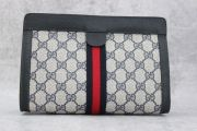 Gucci Blue GG Vintage Web Cosmetic Clutch
