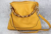 Gucci Diana Yellow Leather Bamboo Handle Bag
