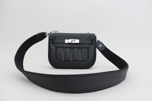 Hermes Berline Mini Bag Perforated Black