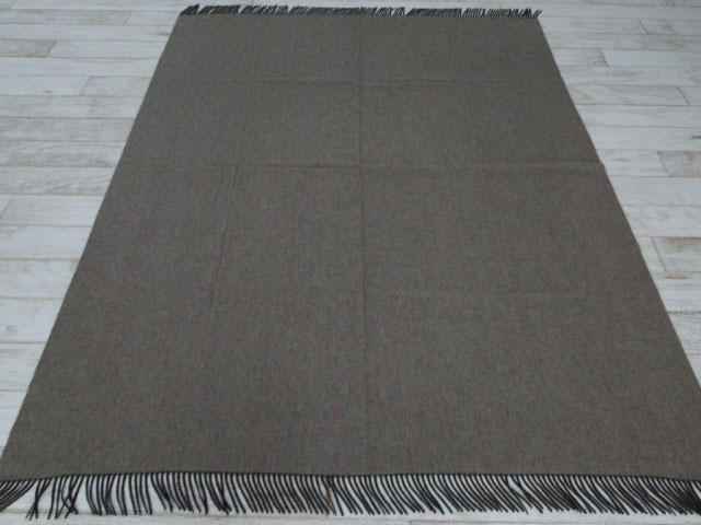 "Hermes Double Sided Cashmere Throw Blanket 59"" x 79"""