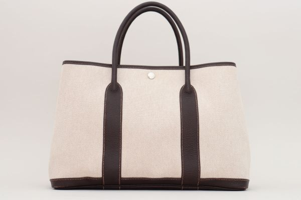Hermes Toile Buffle Gala Garden Party Tote 36 MM
