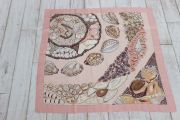 Hermes Rocaille II Seashell Scarf Pink